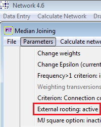 external rooting in Network